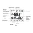 Computherm E280 sobni termostat informacije koje se prikazuju na displeju termostata