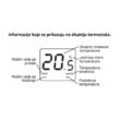 Q3 digitalni sobni termostat informacije displeja