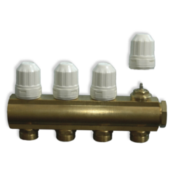 MF01 - 4 kruga - sabirnik za centralno grijanje s integriranim ventilima M30 X 1.5mm