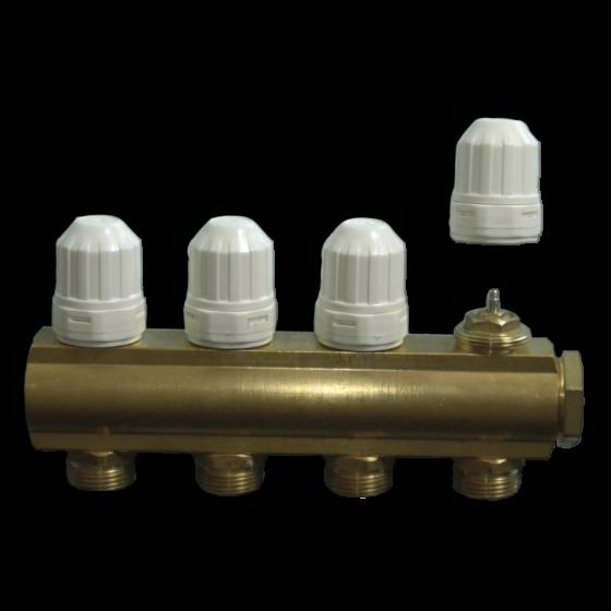 MF01 - 8 kruga - sabirnik za centralno grijanje s integriranim ventilima M30 X 1.5mm
